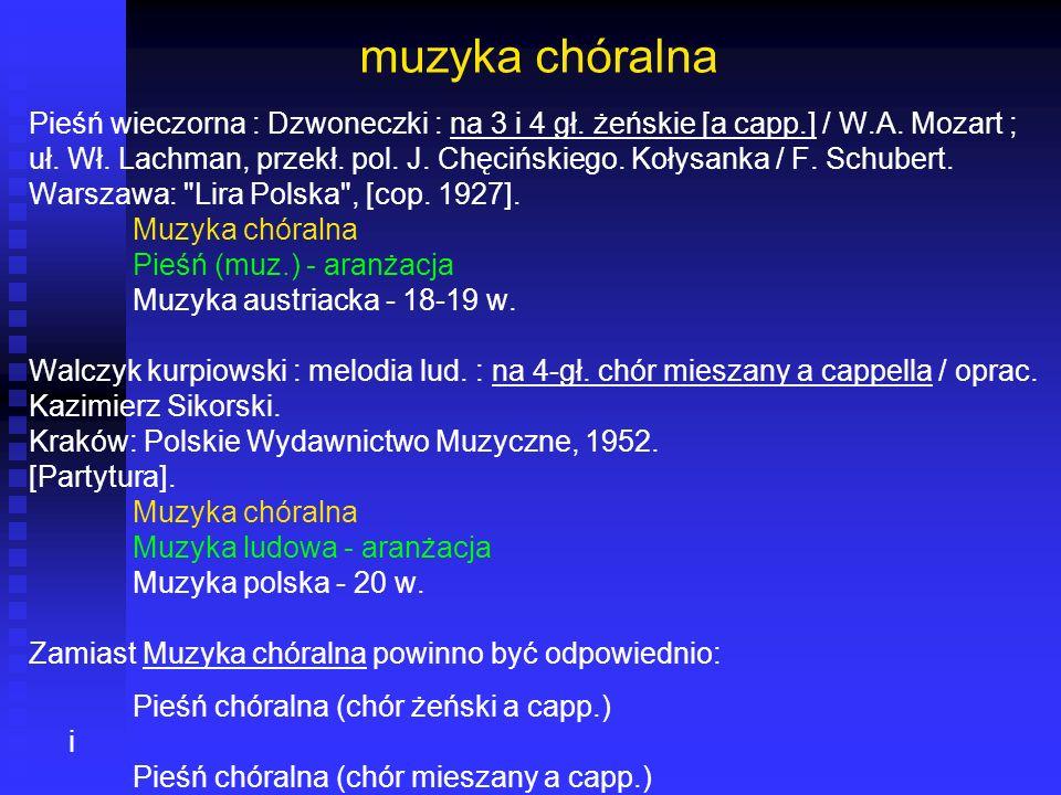 muzyka chóralna Pieśń wieczorna : Dzwoneczki : na 3 i 4 gł. żeńskie [a capp.] / W.A. Mozart ;